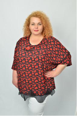 Блуза з червоними маками