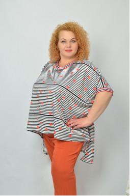 Стильна блуза вільного крою супер батал