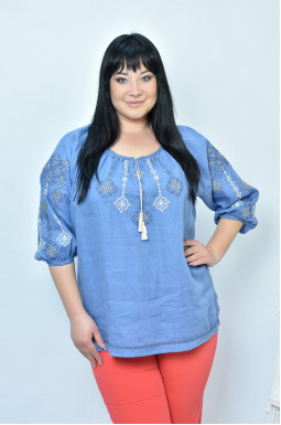 Вышиванка блуза с коротким рукавом