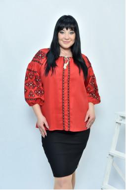 Блуза-вишиванка супер батал