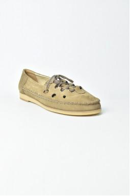 Мокасини замшеві на шнурівці великих розмірів