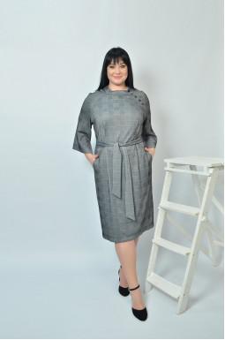 Сукня футляр з поясом батал
