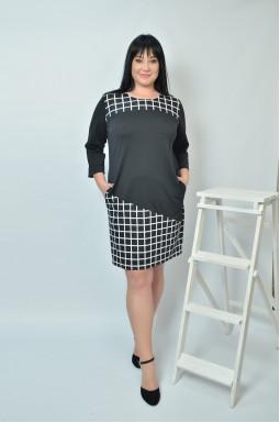 Сукня в офіс футляр батал