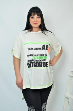 Стильна футболка батал