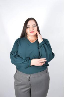 Однотонна шифонова блуза батал