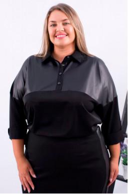 Однотонная блуза софт супер батал
