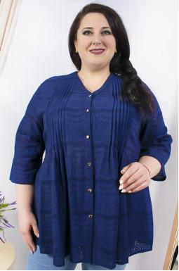 Блуза довга з перфорацією батал