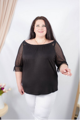 Блуза длинная трикотаж батал