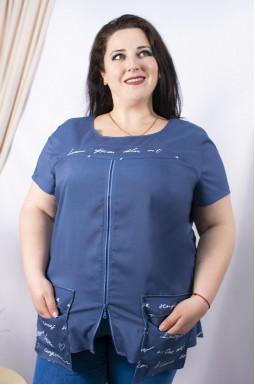 Блуза довга батал