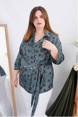 Блуза длинная + пояс супер батал