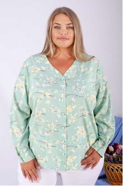 Изящная блуза софт с цветами супер батал