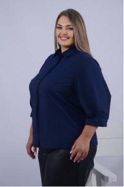 Класична подовжена блуза супер батал