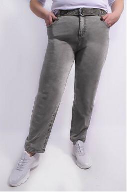 Стильні джинси банани з поясом