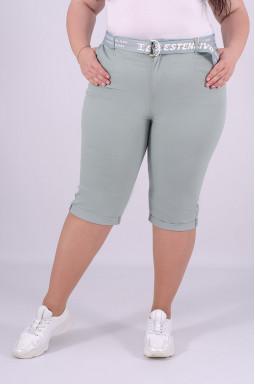 Капри джинсовые + пояс батал