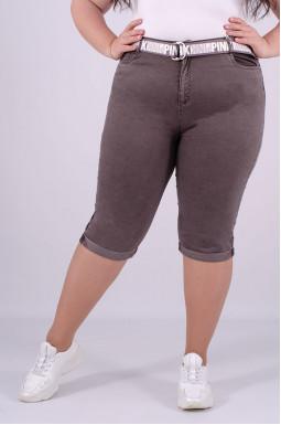 Капри джинсовые супер батал + пояс