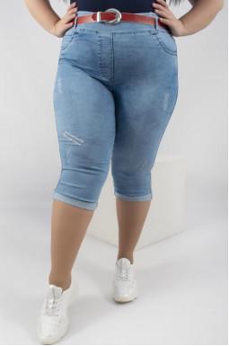Капрі джинсові+пояс батал