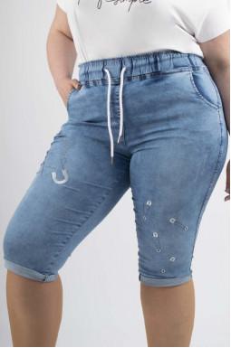 Капри джинсовые супер батал