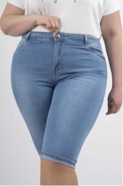 Капри джинсовые летние батал