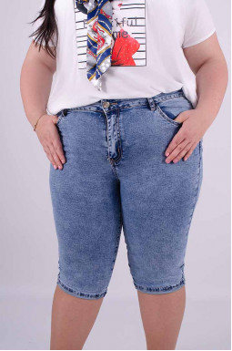 Капри джинсовые батал