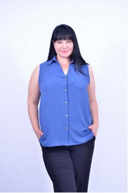 Блуза без рукава довга батал