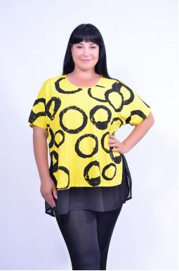 Блуза з принтом повсякденна супер батал