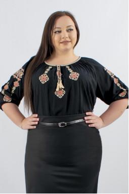Блуза-вышиванка штапельная супер батал