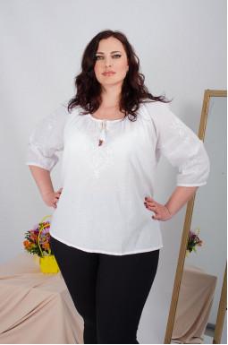 Блуза-вышиванка длинная супер батал