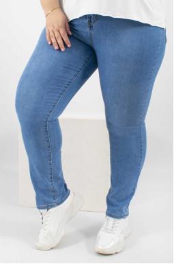 Универсальные зауженные джинсы батал