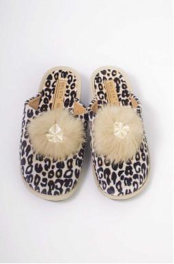 Тапочки леопардові великих розмірів