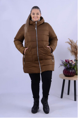 Куртка з леопардовими вставками супер батал