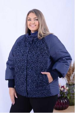 Куртка вкорочена демісезонна з візерунками супер батал