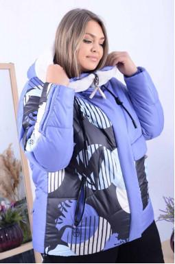 Куртка коротка у кольорах батал