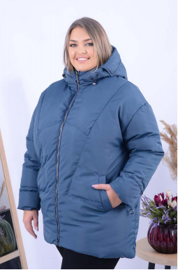 Тепла вкорочена куртка супер батал