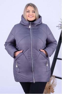 Куртка зимова подовжена однотонна супер батал