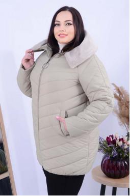Куртка подовжена з велюровим принтом супер батал