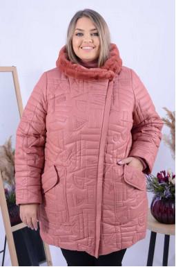 Яскрава зимова подовжена куртка супер батал