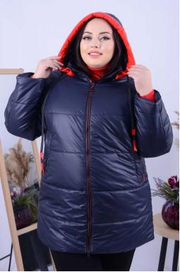 Зручна подовжена куртка батал
