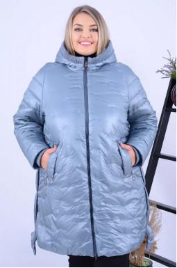 Куртка тепла подовжена в трендовому кольорі супер батал