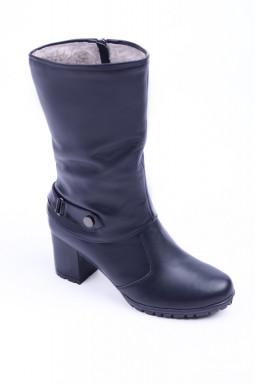 Полусапоги на каблуке на широкую ногу больших размеров