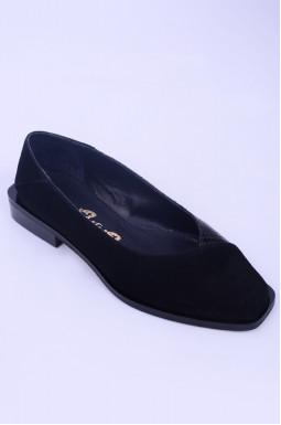 Туфлі замшеві з лаковою вставкою великих розмірів