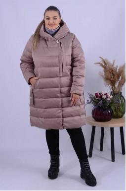 Пальто тепле стьобане супер батал