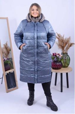 Зимове пальто холлофайбер трапеція супер батал
