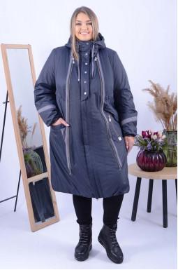 Зимове пальто трапеція супер батал