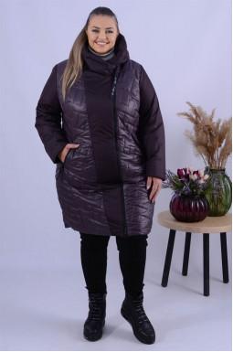 Пальто холлофайбер без принту супер батал