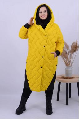 Яркое пальто холлофайбер батал