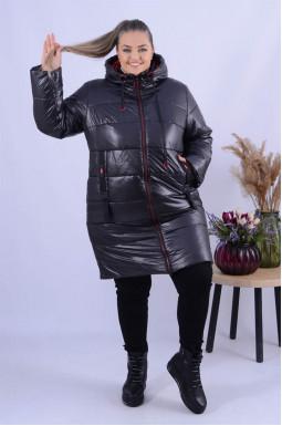Пальто холлофайбер зима однотонне батал