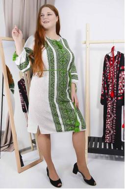 Сукня вишиванка з поясом супер батал