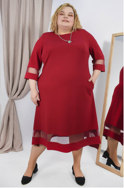 Сукня напівсвітська з прикрасою