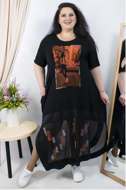 Сукня довга з принтом супер батал