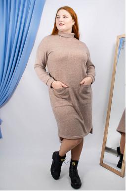 Платье повседневное короткое с карманами